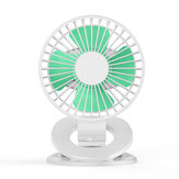 Bakeey Clip Fan USB Ventilador de pequeno porte Grande capacidade Mini Desktop Office Student Fan