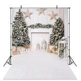 クリスマスの写真の背景白い暖炉の木製の床の背景布フォトスタジオの背景