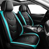 Универсальная искусственная кожа Авто Автоматическая передняя подушка сиденья Защитная крышка для коврика Черный