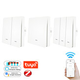 MoesHouse Tuya ZigBee3.0 Push Button Light Switch Tuya ZB Hub Required Smart Life APP Remote Control Work with Alexa Google Home