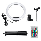Flash Selfie LED Ring Light Dimmable Tripod Stand Phone Clip Holder for YouTube Tiktok Live Streaming Makeup