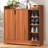 Panneau de bois épaissi multicouche anti-poussière armoire à chaussures organisateur de chaussures support d'étagère pour salon