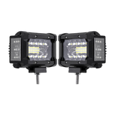 3.5 Inch 72W LED Work Light Bar Side Shooter Flood Spot Combo Beam 2Pcs for Jeep Offroad ATV SUV