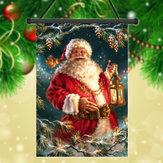 30x45cm Kerstman Santa Claus Polyester Welkom Vlag Tuinvakantie Decoratie