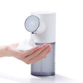 Automata szappanadagoló Digitális kijelző hőmérsékleti akkumulátor USB újratölthető vízálló érintés nélküli kézfertőtlenítő