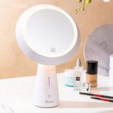 MIUO T03 Косметические зеркальные настольные лампы Зеркало для макияжа высокой четкости с плавным затемнением USB-зарядка Поворот на 90 ° Прикр