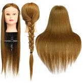 26インチライトブラウン30%人間の髪のトレーニングマネキンの頭のモデルクランプで美容メイクの実践