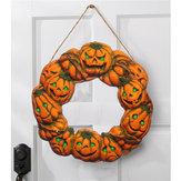 Halloween Spooky Wreath LED Lamba LED Kabak Light Kapı Askı Ev Dekoru