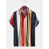 Мужские летние многослойные рубашки из 100% полиэстера с коротким рукавом