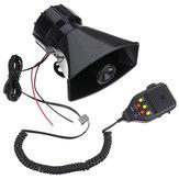 12V 3 sistema de altifalante da polícia do carro da gravação do som chifre da sirene + microfone
