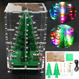 Geekcreit® Christmas Tree RGB Colorful LED Flash Kit con tapa transparente DIY Kit electrónico
