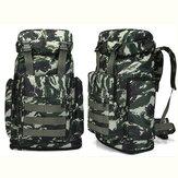 80L Multi-Color waterdichte Tactische rugzak met grote capaciteit Outdoor Travel Hiking Camping Bag