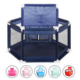2 in 1 6-Sided Baby Playpen with ball frame Toddler Children Play Yardsfor Children Under 36 Months Tent Basketball Court Gifts