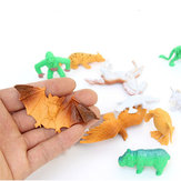 68PCS Plastic Farm Yard Wild Animals Fence Tree Model Figurki zabawek dla dzieci Zagraj w nowy
