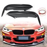 Carbon Fiber Racing Front Splitters Lip Fit Car Spoiler Wing Bumper Protector For BMW 3 Series F30 M Sport Sedan 2013-2017