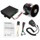 12V 400W 9 sound 150dB Loud Car Warning Alarm Police Fire Siren Horn Speaker System