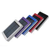 Carregador móvel externo do bloco do banco do poder Bateria móvel externo de USB do painel solar para o iPhone HTC