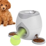 Pet Tennis Ball Throwing Food Dispenser Pet Trainer Feeder Reward Game Training Tool