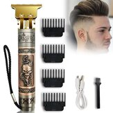 Vintage Skull Head USB Electric Hair Clipper Men's Oil Head Electric Clipper Hair Clipper Set