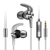 FongeJ02EnMétalSportCourir Écouteurs Écouteurs Antibruit avec Micro pour Téléphone Mobile Xiaomi