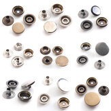 15 / 17mm brons drukknoop popper drukknoop klinknagel naaien lederen knopen craft