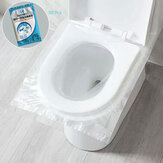 50Pcs Disposable Toilet Seat Covers Plastic Business Travel Biodegradable  Waterproof Toilet Pad