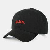 Unisex Rahat Nakış Desen Eğri Ağız Vizör Yaz Outdoor Güneş Şapka Beyzbol Şapka