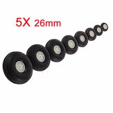 5pcs 26mm Rubber Wheels For RC Airplane And DIY Robot Tires