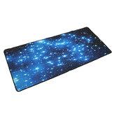 Tappetino da scrivania con tastiera per mouse da gioco in neoprene antiscivolo con stelle blu
