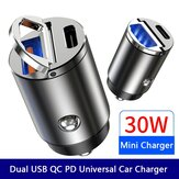 Bakeey 30W QC3.0 + USB-C PD / Dual USB-C PD Car Charger Fast Charging For for iPhone 12 Pro Max for Samsung Galaxy Note S20 ultra Redmi Note 10 Pro POCO X3 Pro