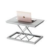 BAIZE Katlanabilir Bilgisayar Masası Ayarlanabilir Taşınabilir Dizüstü Bilgisayar Masası Döndür Dizüstü Yatak Masa Kaldırılabilir Standı Oturmak Çift Kullanımlı Dizüstü Katlama Masası