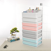 Double-Deck-Desktop-Comestics-Make-up-Schubladenbox Platzsparender Desktop-Organizer