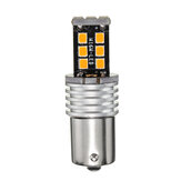 1156 BA15S 15-LED Turn Signal Indicator Light Bulb 4W High Power Yellow Color 12-24V