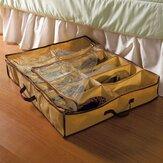 12 Pairs Ayakkabı Depolama Kutu Yatak Dolap Altında Depolama Sepetleri