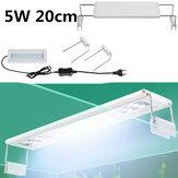 5W LED Fish Tank Light 20CM Aquarium Bracket Clip Light Aquarium Lighting Extendable Aquatic Plant Light for 20-30cm Fish Tank