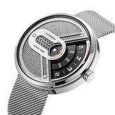 SINOBI 9831 Fashion herenhorloge Creative Dial 3ATM waterdicht metalen gaasband quartz horloge