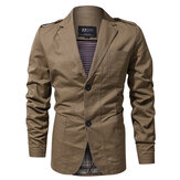 Epaulet Military Spring Autumn Cotton Casual Blazer Jackets