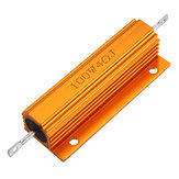 5pcs RX24 100W 4R 4RJ Metal Aluminum Case High Power Resistor Golden Metal Shell Case Heatsink Resistance Resistor