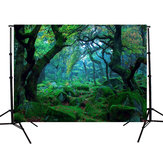 5x3FT Natureza Selva Floresta Árvore Backdrop Fotografia Studio Props