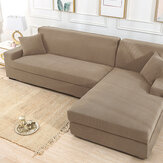 Khaki Stretch Elastic Sofa Cover Solid Non Slip Soft Slipcover Washable Couch Furniture Protector for Living Room