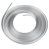 25ft Fren Borusu Bakır Hattı 3/8 '' OD Çelik Çinko Gümüş Fren Hattı Yakıt Boru Kit
