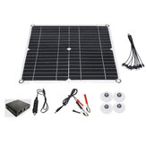80W 12V Monocrystalline Solar Panel Charge Controller W/ Dual USB for Camping