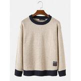 Pulls tricotés chauds à manches longues pour hommes