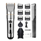2000mAh LED Display Electric Hair Trimmer Portable USB Charging Hair Clipper Haircut Machine