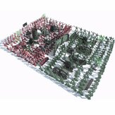 270Pcs Military Soldiers Toy Kit Army Men Figures & Accessories Model For Sand Box