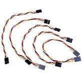 15 piezas 4 pines 20 cm 2,54 mm Jumper Cable DuPont Alambre para mujer a mujer