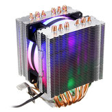 3 Pin CPU Cooler Cooling Fan Heatink para Intel 775/1150/1151/1155/1156/1366 y AMD All Platforms 5 Colors Lighting