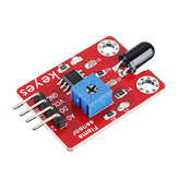 Keyes Brick Flame Sensor(pad hole)with Pin Header Module Digital Signal and Analog Signal