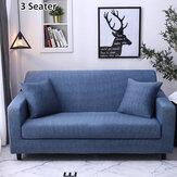 Capa de sofá 1/2/3 lugares Capas de travesseiro Elástico Protetor de assento de cadeira Capa elástica Capa de sofá em casa Decoração de acessórios de móveis de escritório azul escuro