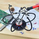 NEWACALOX Soldeerbouthouder Soldeerstation USB 6-delige flexibele armen Derde handlasgereedschap
